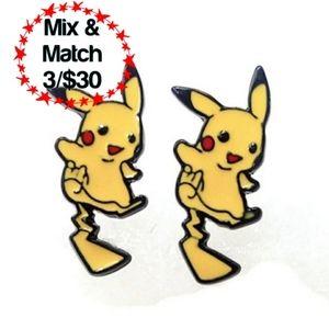 🔹️Pokémon Pikachu Earrings, Yellow
